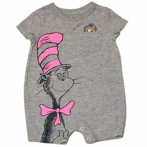 Baby girl cat in the hat one piece